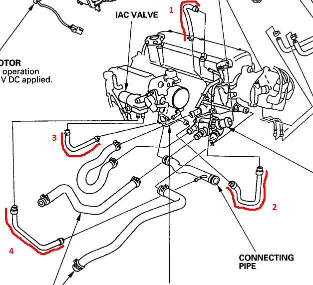 2000 honda civic intake hose diagram