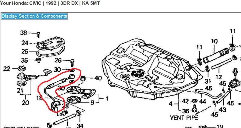 Honda Prelude Fuel Line Honda Accord Transmission Diagram