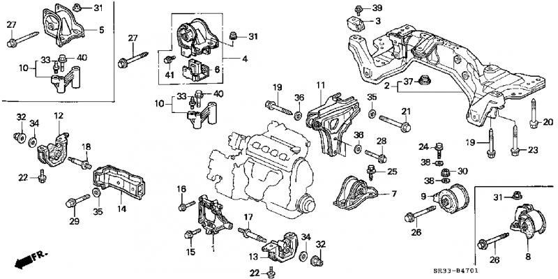 civic ex engine diagram