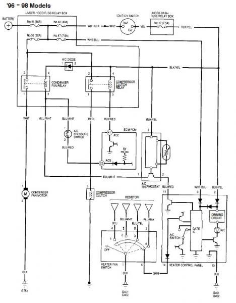 1998 honda civic headlight wiring diagram. honda. electrical, Wiring diagram