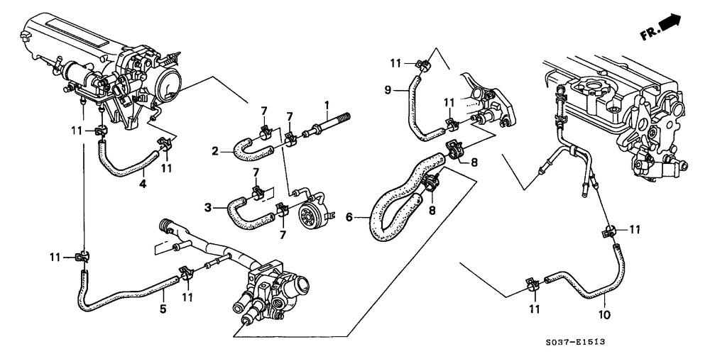 honda b16a engine diagram