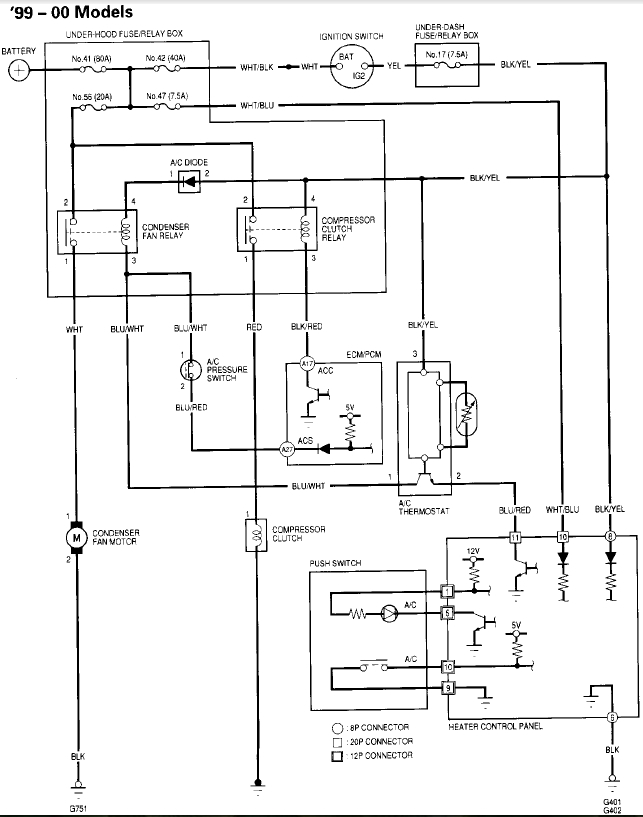 2000 civic fuse panel diagram 1997 ford f150 audio wiring 99 heater/ac/blower blowing - honda-tech honda forum discussion