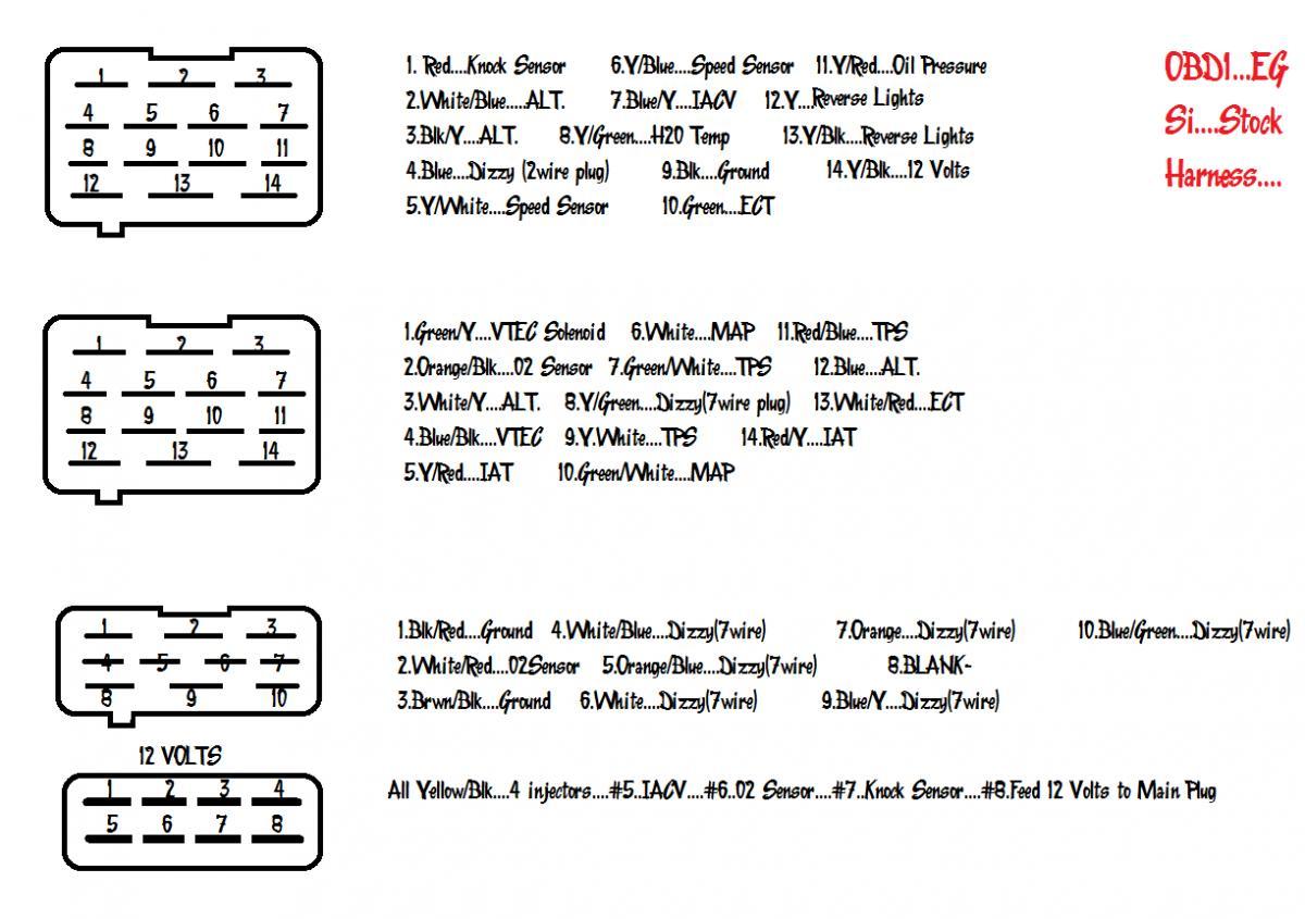 vtec wiring diagram obd2 diagrams for lighting circuits 93 civic si obd1 harness breakdown honda tech