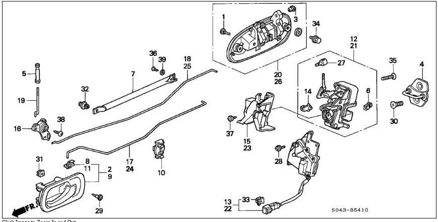 Honda Crx Door Diagram. Honda. Auto Parts Catalog And Diagram