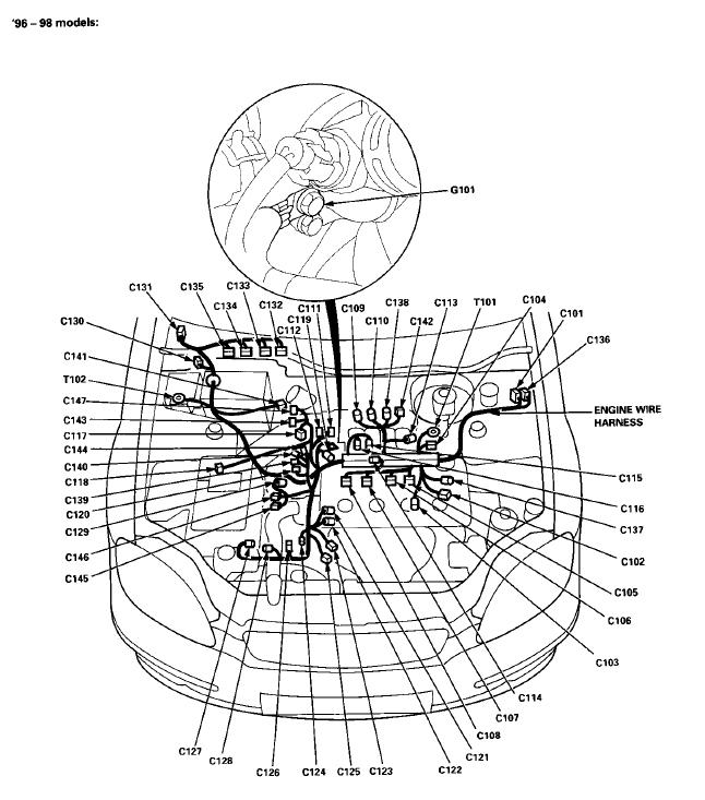 Honda Civic Door Wiring Harness Diagram. 1990 Honda Crx