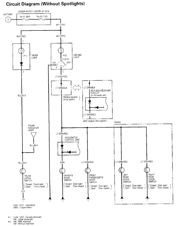 2000 Honda Civic Dome Light Wiring Diagram • Wiring