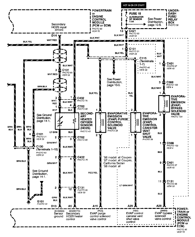 98 Civic O2 Sensor Wiring Diagram : 33 Wiring Diagram
