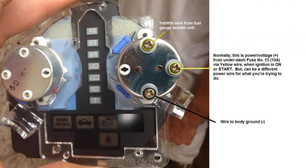 medium resolution of fuel gauge wiring with pics honda tech honda forum discussion rh honda tech com boat fuel gauge wiring diagram fuel gauge fuse