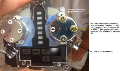 small resolution of fuel gauge wiring with pics honda tech honda forum discussion rh honda tech com boat fuel gauge wiring diagram fuel gauge fuse