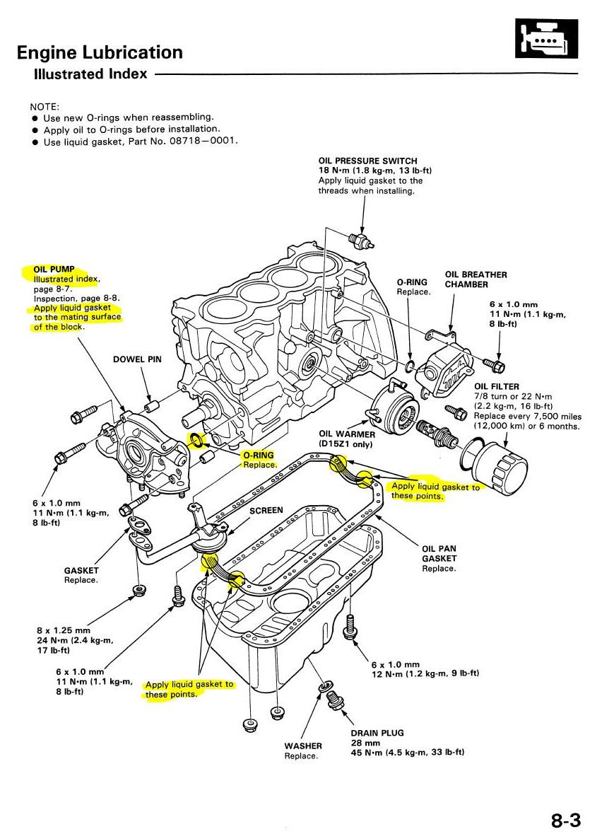 Oil Pan Diagram Honda Civic Si 2007. Honda. Auto Parts