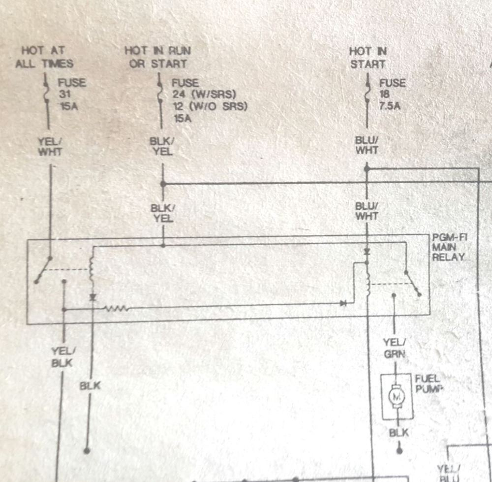 medium resolution of 1994 honda accord main relay wiring diagram wiring library 95 civic no power to the fuel