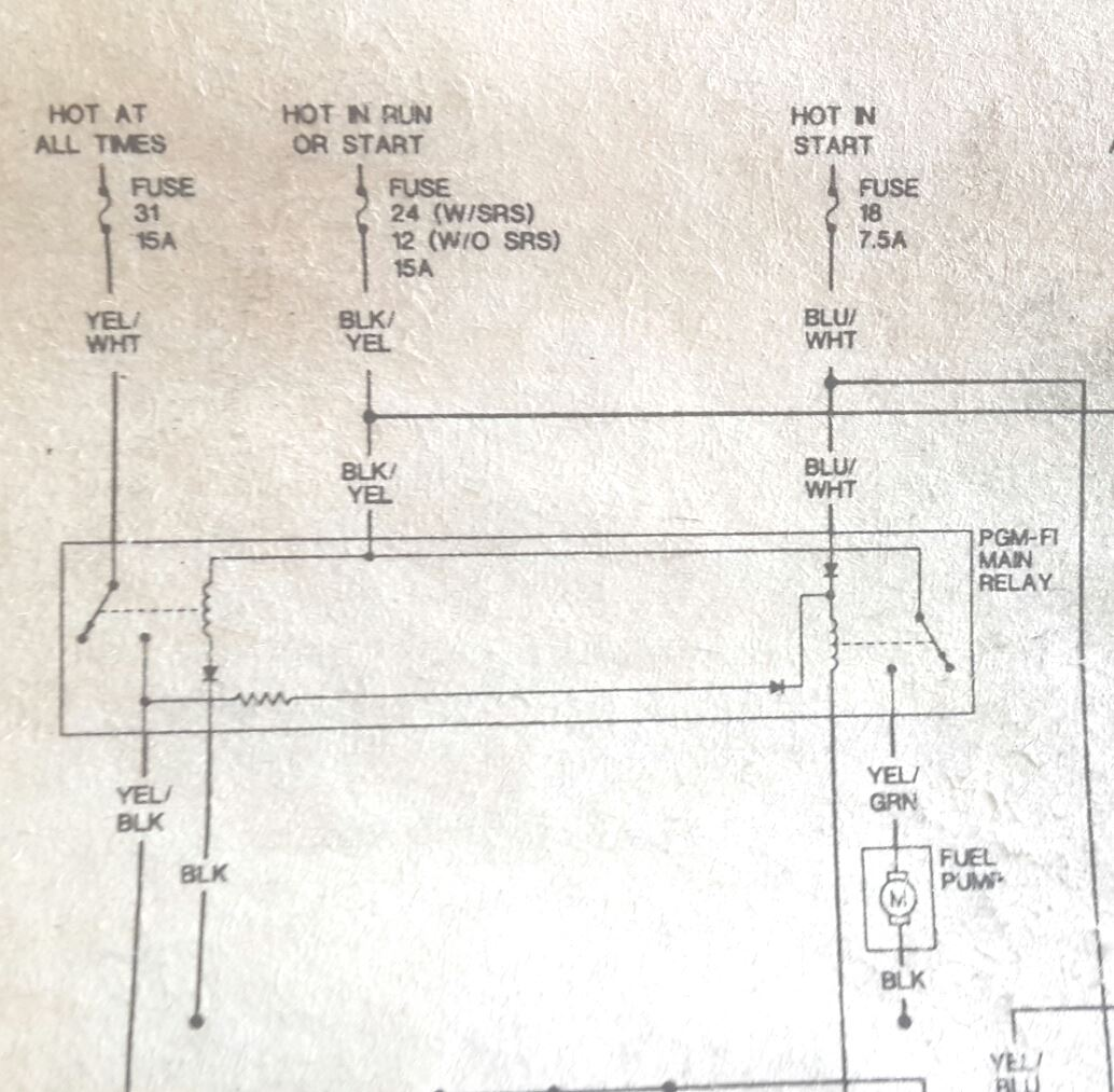 hight resolution of 1994 honda accord main relay wiring diagram wiring library 95 civic no power to the fuel