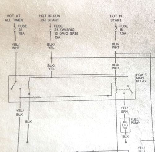 small resolution of 1994 honda accord main relay wiring diagram wiring library 95 civic no power to the fuel