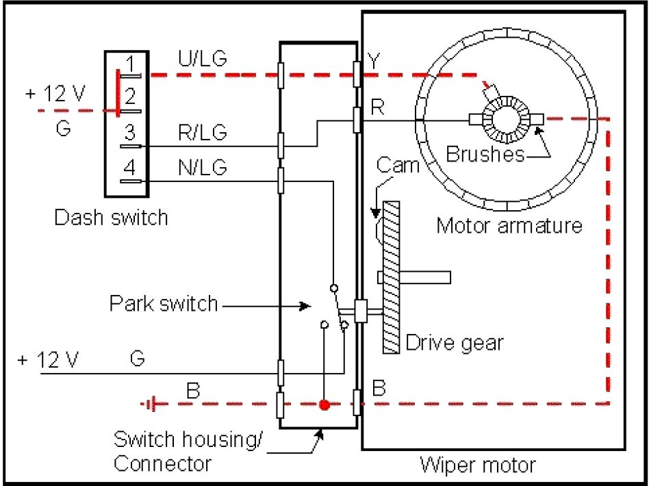 Wiring A Self-Parking Windscreen-Wiper Dc Motor