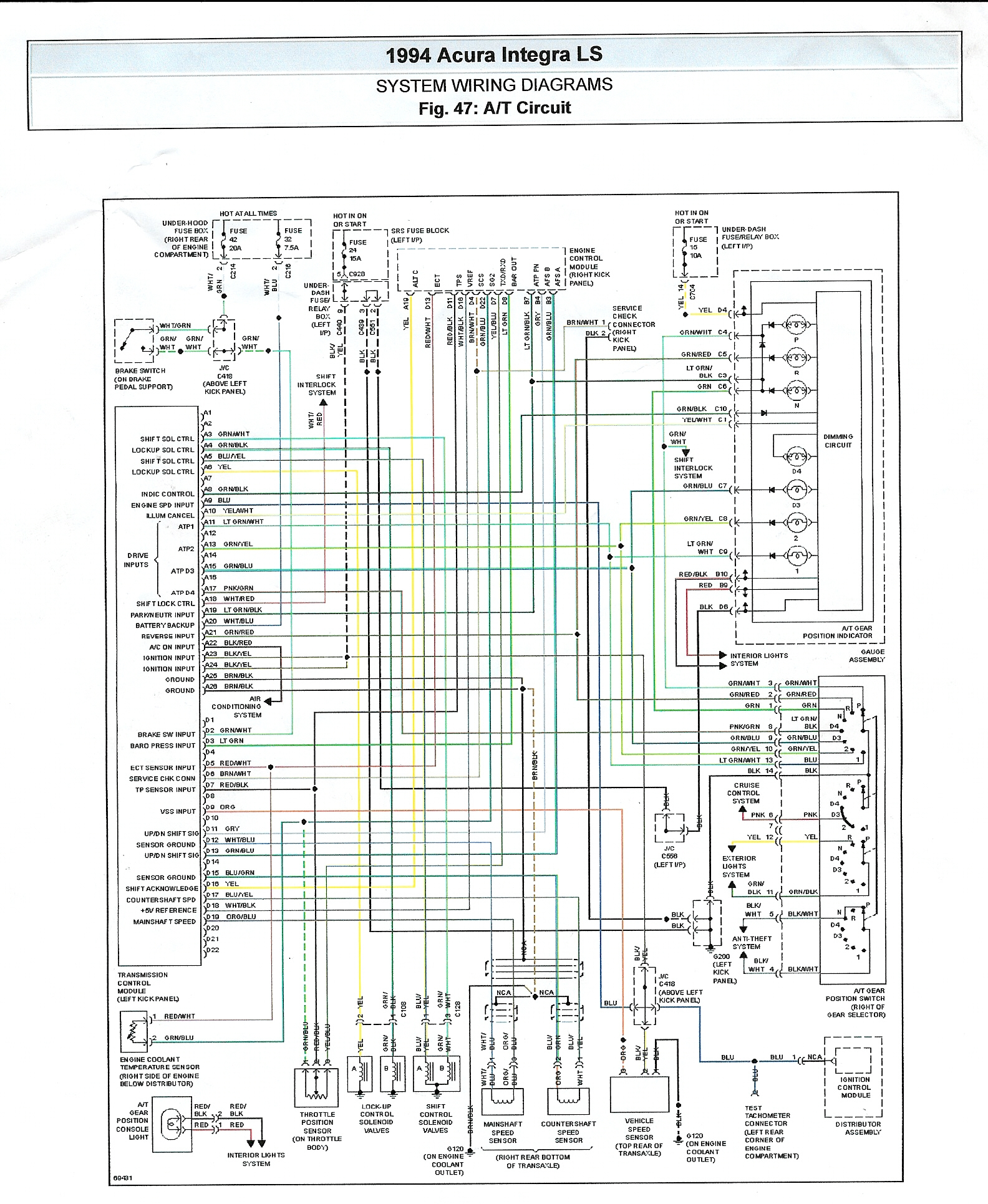 Schematic Wiring Color Diagram Auto Electrical Volvo 940 Cooling Fan