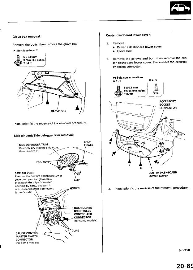 Service manual [2000 Honda Civic Replacement Procedure