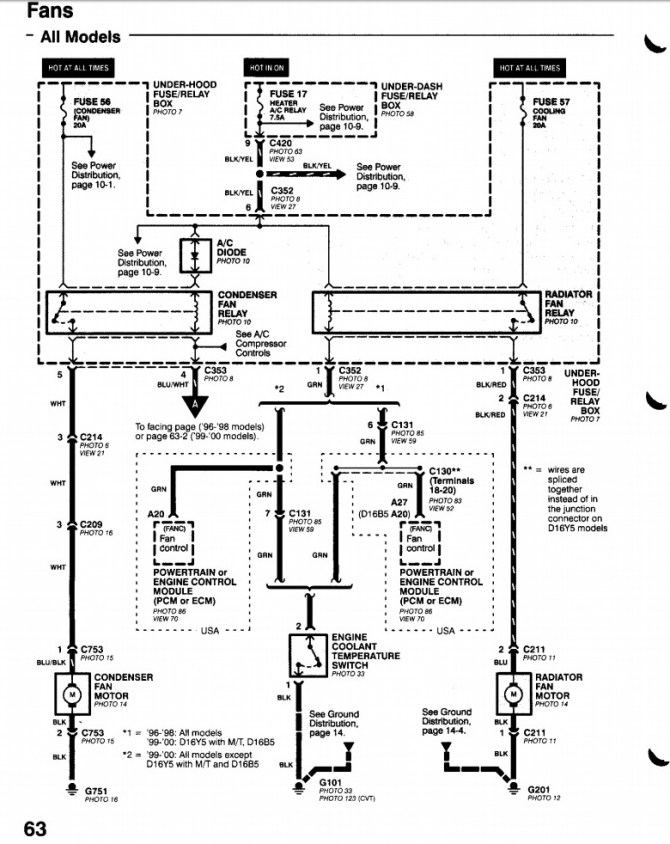 honda civic cooling fan wiring diagram image details  1989