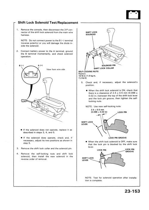 small resolution of pin shift lock solenoid diagram on pinterest wiring diagram blog 93 honda del sol a t gear