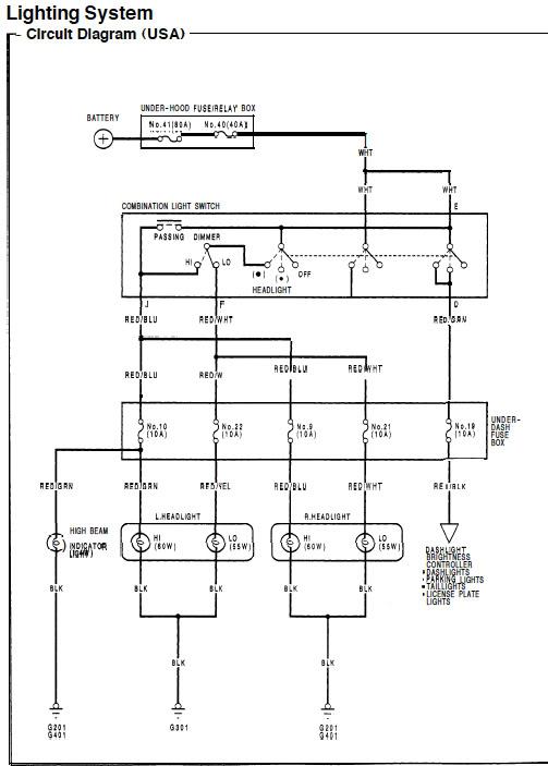 92 95 DX Civic Headlight Wiring Honda Tech Honda Forum Discussion