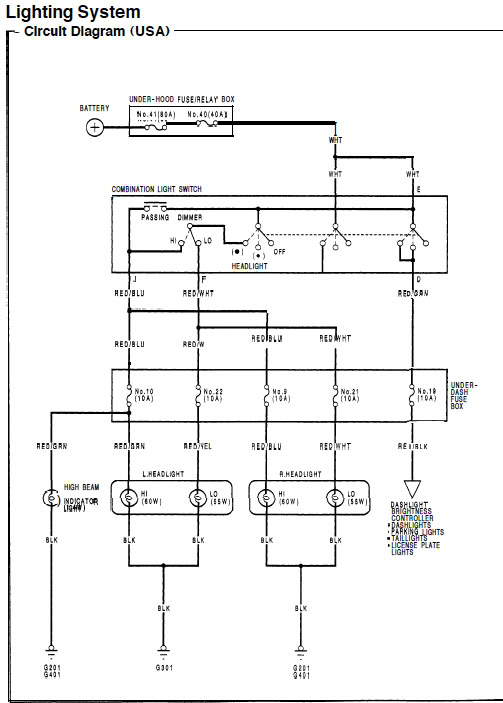 2006 honda civic headlight wiring diagram 1966 mustang under dash light great installation of 92 all rh 20 19 drk ov roden de tail 2003