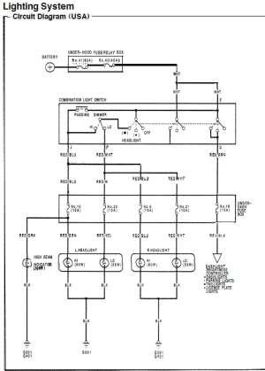 9295 DX Civic Headlight Wiring  HondaTech  Honda