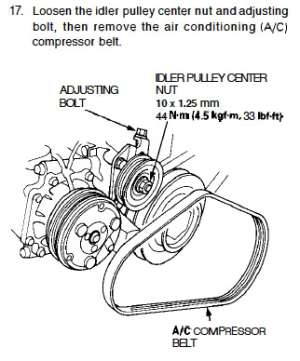 AC belt gone  How install new one?  HondaTech  Honda Forum Discussion