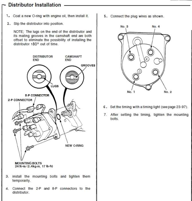 1990 honda civic distributor diagram  trusted wiring diagrams •