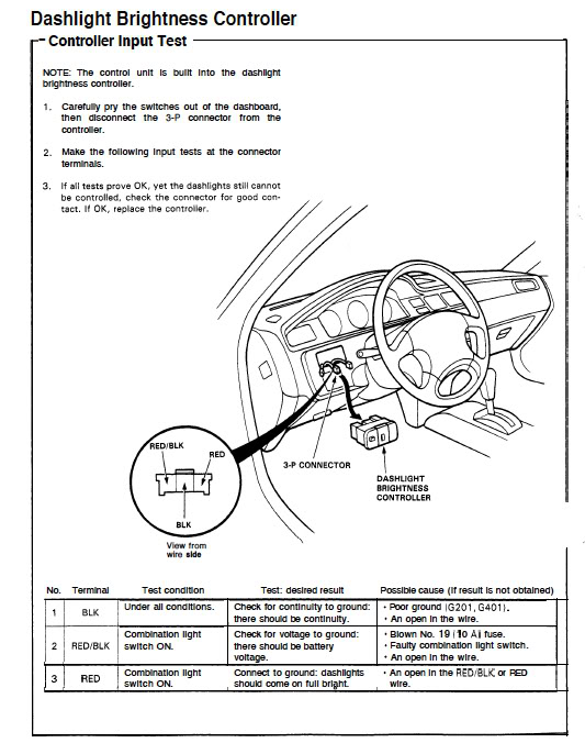 1994 honda accord wiring diagram 5 pin socket 94 coupe - no dash lights with headlights on honda-tech forum discussion