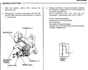 Testing ignition coils ohms, goodbad??  HondaTech