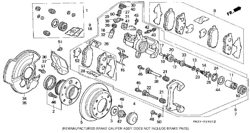 Service manual [2010 Honda Pilot Front Brake Rotor Removal
