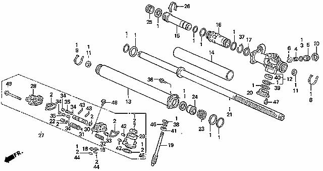 2001 Honda Civic Rack And Pinion Diagram