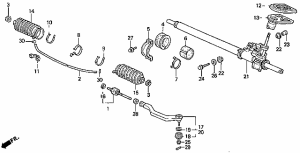 Power Steering Rack Exploded view diagram?  HondaTech