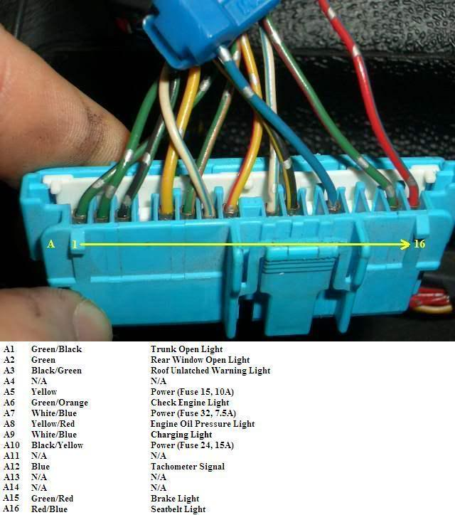 wiring schematic diagram 94-97/98-01 integra cluster into 92-95/96-