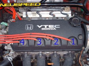 What is the order of the spark plug wires for my 94 civic ex?  HondaTech  Honda Forum Discussion