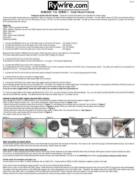 OBD0 To OBD1 Distributor Wiring Page 2 Honda Tech Honda