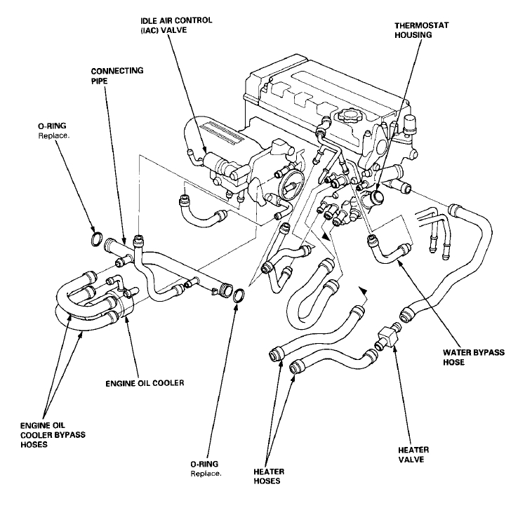 B16a Engine Diagram