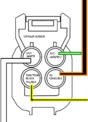 4 wire o2 sensor wiring  HondaTech  Honda Forum Discussion