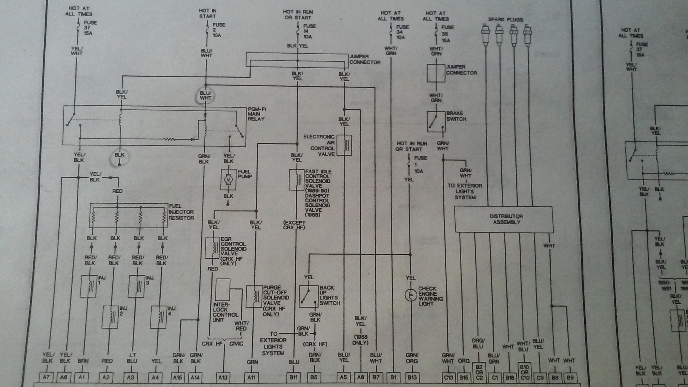 Honda Civic Wiring Diagram Also 1998 Honda Civic Distributor Diagram