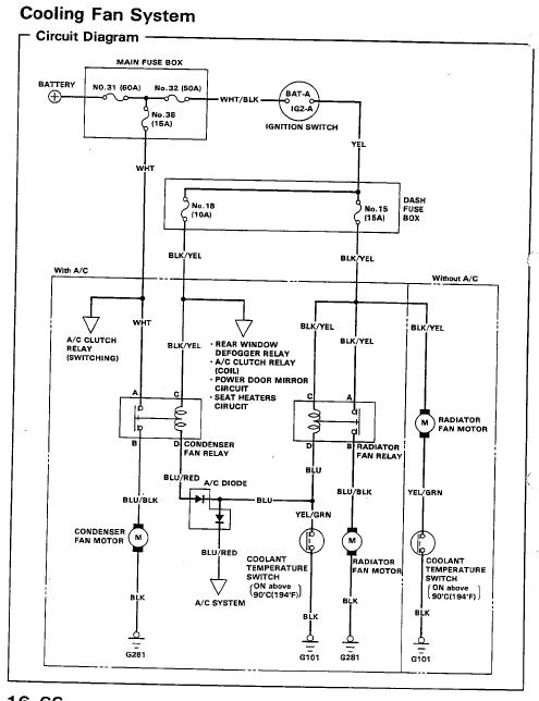 radiator cooling fan circuit diagram