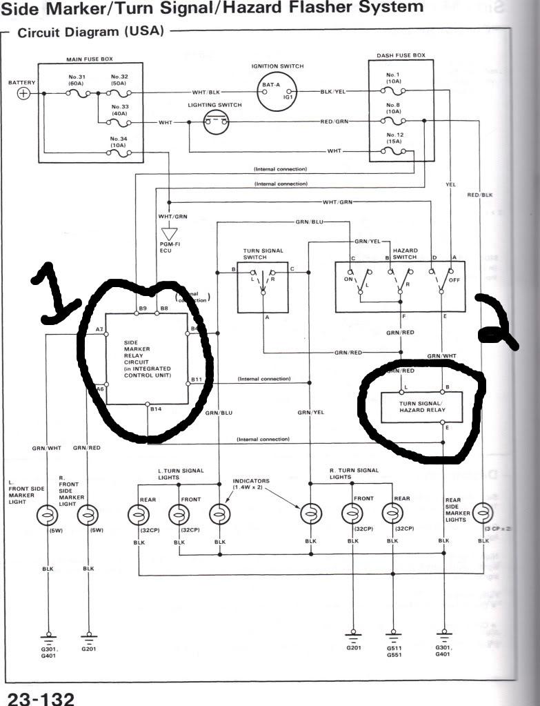 acura integra turn signal wiring diagram