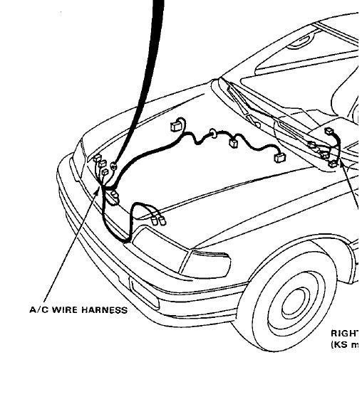 crx ac wiring harness