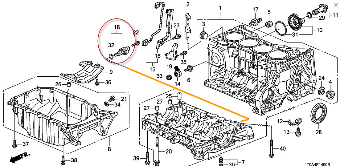 2012 honda crv powertrain technical illustration