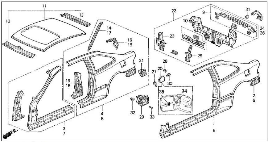 Service manual [Remove The Back Quarter Panel Of A 1995