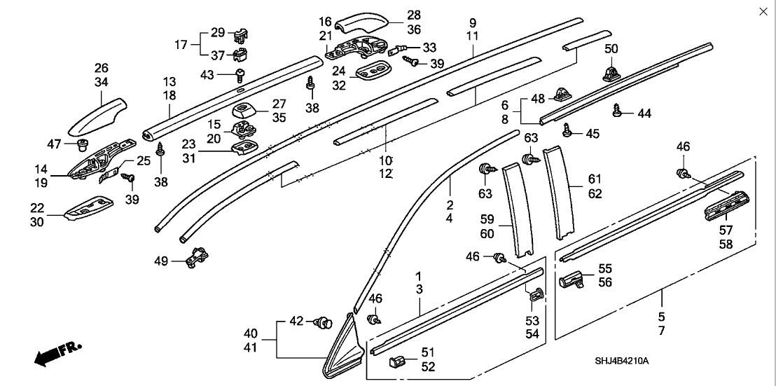 Honda Ridgeline Exterior Parts Diagram. Honda. Auto Wiring