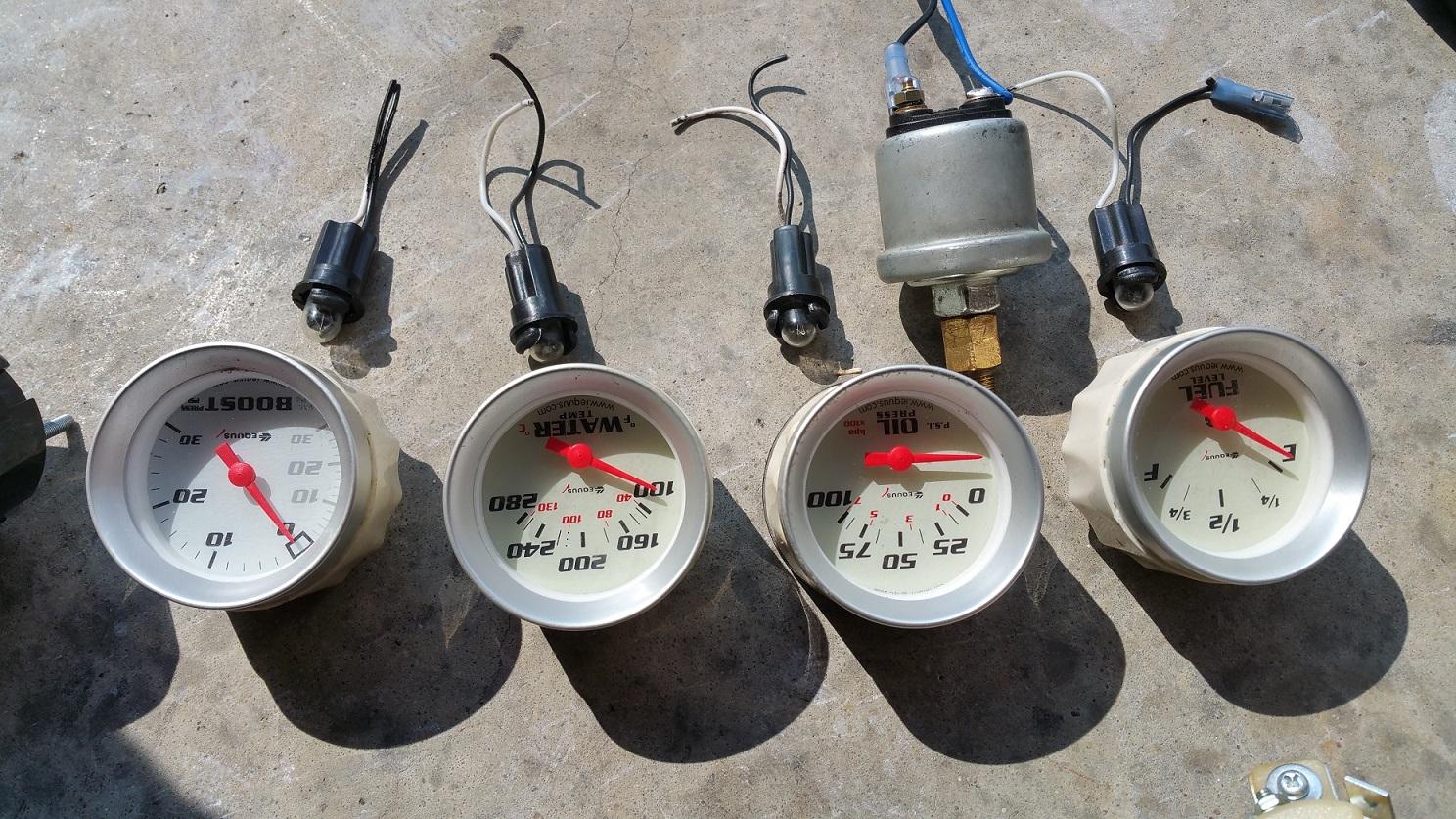 Honda Civic Wiring Diagram Gauges Aem Wideband Oil Pressure Water Temp And More