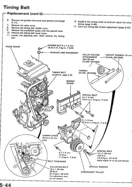b16a timing belt