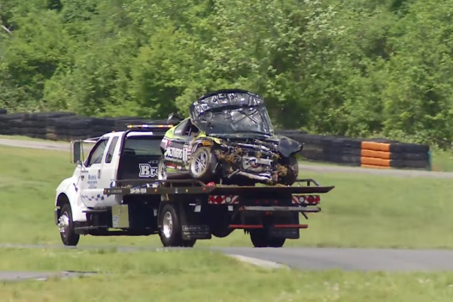 honda-tech.com Shea Holbrook Racing Honda Accord V6 wreck PWC Pirelli World Challenge crash