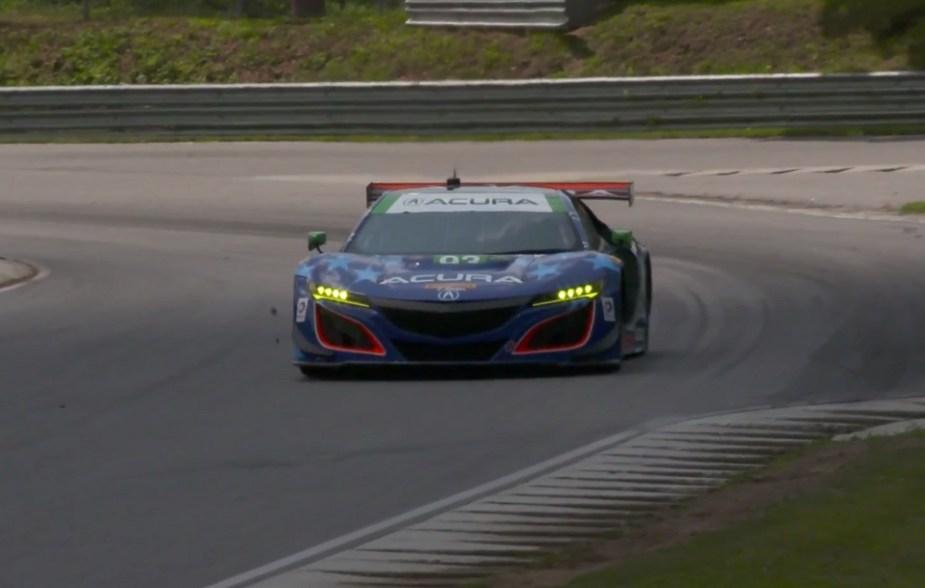 Honda-tech.com The Acura NSX GT3 has made an impressive debut in IMSA racing.