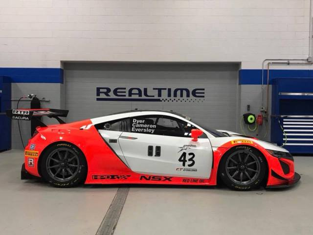 Honda-tech.com RealTime Racing Acura NSX GT3 Throwback Livery 8 Hours Laguna Seca Race