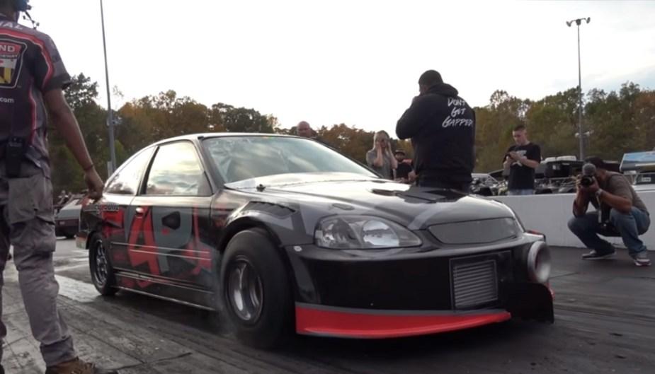 2000 Honda Civic Drag Racing, Shawn Ramey